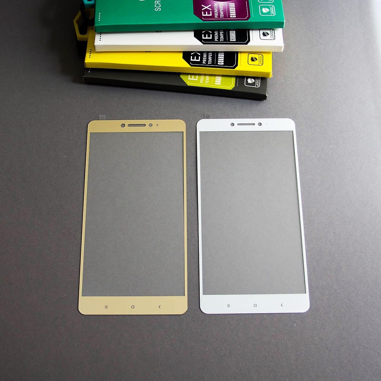 Защитное стекло Full Cover на Xiaomi Mi MAX Золотое