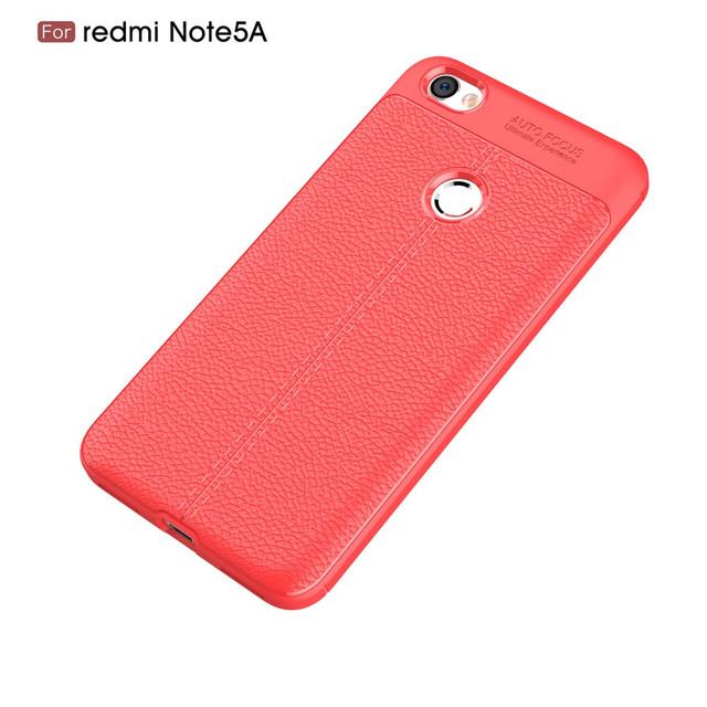 чохол Xiaomi Redmi Note 5A Prime накладка червоний