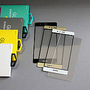 Защитное стекло 3D для Huawei P9 Золотое