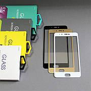 Защитное стекло 3D на Xiaomi Mi 5s Золотое Мягкое
