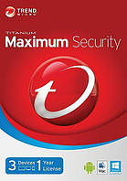 Антивирус Trend Micro Maximum Security (3 пк, 1 год)