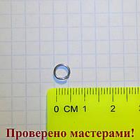 Колечко 6 мм, медицинская сталь, 1 шт
