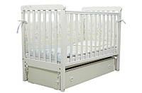 Детская кроватка Верес ЛД12 Соня ш/маятник белая