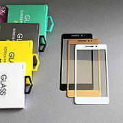 Защитное стекло 3D на Xiaomi Redmi 4 Белое Мягкое