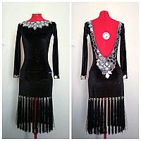 Платье для бальных танцев латина с зеркалами