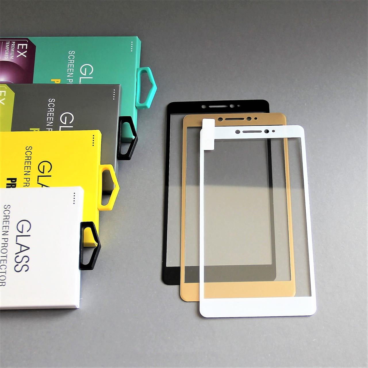 Защитное стекло 3D на Xiaomi Mi Max Белое Мягкое