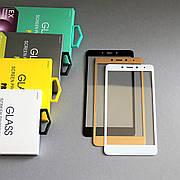 Защитное стекло 3D на Xiaomi Redmi Note 4 (MTK) Черное Мягкое