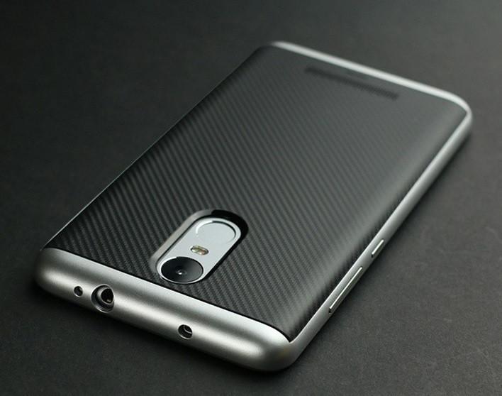 Чехол с серебряной рамкой на Xiaomi Redmi Note 3