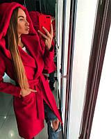 Красивое красное женское пальто, фото 1