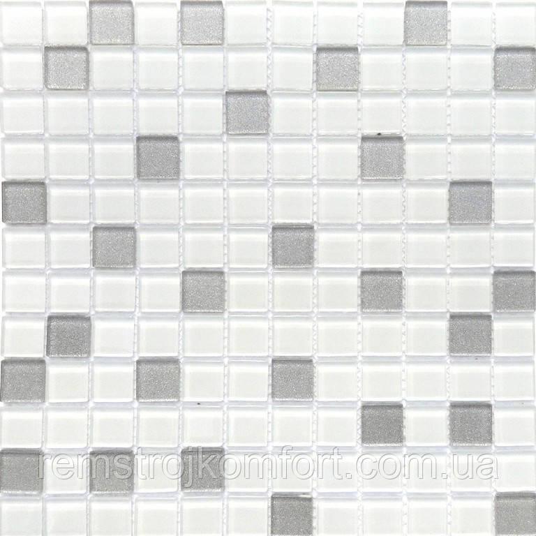 Мозаика Vivacer Микс Прозрачное стекло MixC09 30x30/2.5x2.5