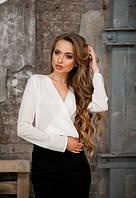 Жіноча біла блузка на запах від KIVI
