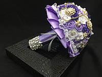 Свадебный брошь букет из роз
