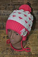 Детская шапка розового цвета