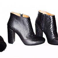 Женски ботильоны. Натуральная кожа. Стильные женские сапоги. Зимняя обувь.