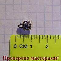 """Держатель для кулона 0,8 см (с петелькой) (тибетское """"серебро"""") 1 шт."""