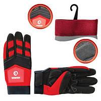 Перчатка Microfiber тканевая красная INTERTOOL SP-0143