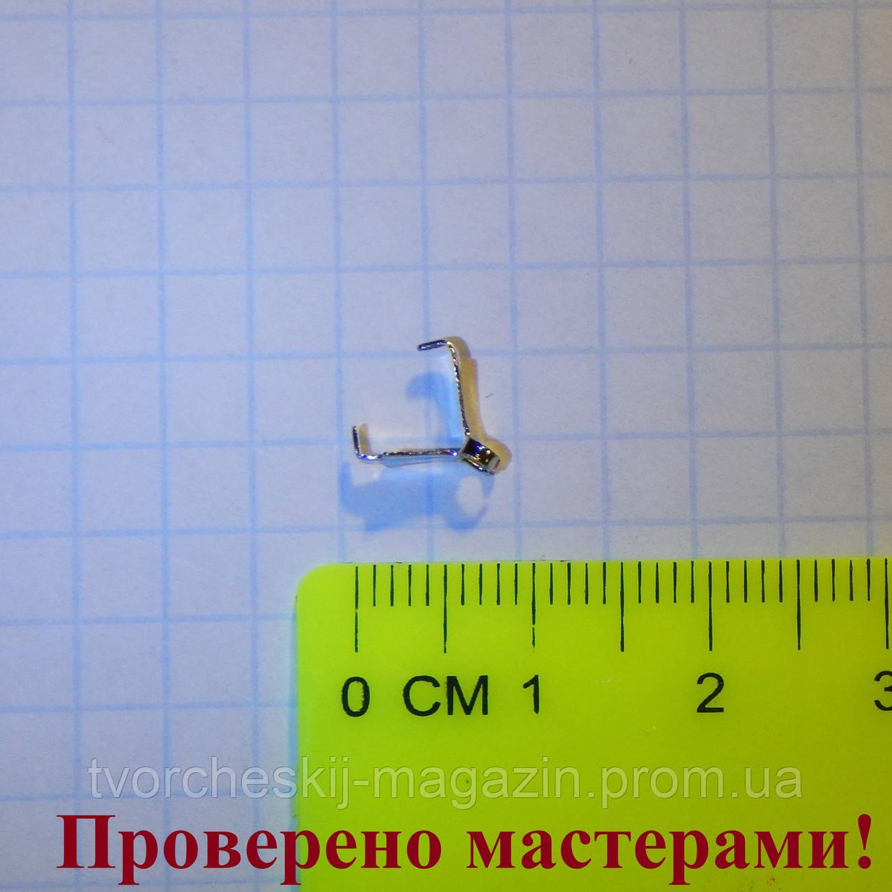 Держатель для кулона 0,8 см темно-серебристый 1 шт