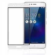 Защитное стекло Full Cover на Asus Zenfone 3 Max ZC520TL Белое