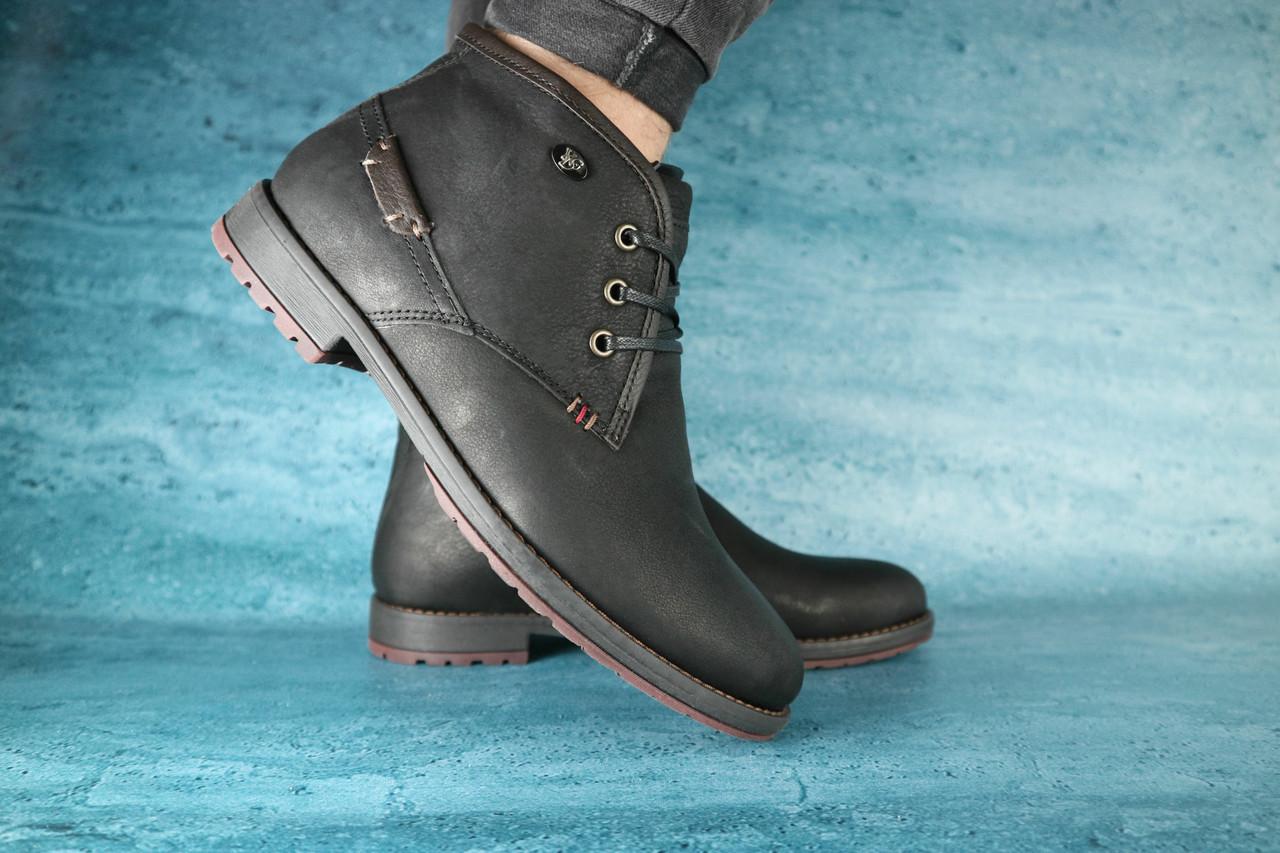 Мужские зимние ботинки YDG (черные), ТОП-реплика