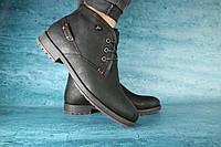 Мужские зимние ботинки YDG (черные), ТОП-реплика, фото 1