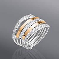 Женское кольцо с камнями Юрьев 36к