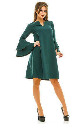 Ж260 Платье на рукавах оборка 42,44,46,48, фото 2