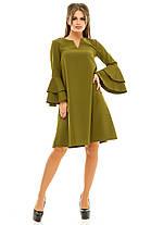 Ж260 Платье на рукавах оборка 42,44,46,48, фото 3