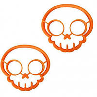Форма для жарки яиц череп 12,5 см силикон оранжевый