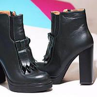Женские ботильоны. Натуральная кожа. Стильные женские сапоги. Зимняя обувь.