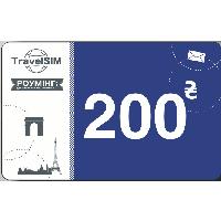 Операторы TravelSim Ваучер TravelSim 200 грн.