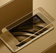 Защитное стекло Full Cover на Xiaomi Mi 6 Золотое