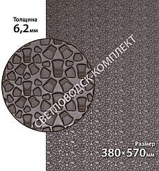 Резина набоечная BISSELL (БИЗЕЛ), art.006, р. 380*570*6,2 мм, цв. коричневый