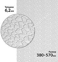 Резина набоечная BISSELL (БИЗЕЛ), art.006, р. 380*570*6,2 мм, цв. белый