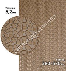Резина набоечная BISSELL (БИЗЕЛ), art.006, р. 380*570*6,2 мм, цв. светло-коричневый