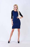 Женское платье-футляр с рукавами 3/4 (синее) Love KAN № 0209