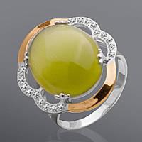Серебряное кольцо с золотом Юрьев 38к