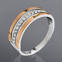 Кольцо с камнями Юрьев 44к