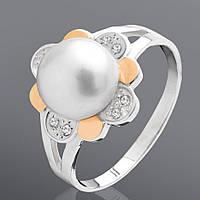 Кольцо Юрьев с культивированным жемчугом  57к