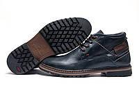 Зимние мужские ботинки Multi Shoes, синие, натуральная кожа, р. 45