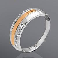 Серебряное кольцо с фианитами Юрьев 71к
