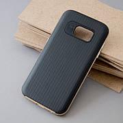 Чехол c золотой рамкой на Samsung S7
