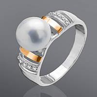 Серебряное кольцо с золотом Юрьев 91к