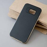 Чехол c золотой рамкой на Samsung S7 Edge