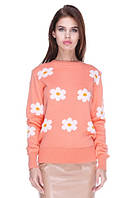 Женский свитер с ромашками