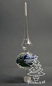 Верхушка стеклянная Зимний пейзаж прозрачная