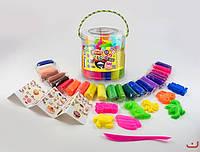 "Набор для творчества ""Тесто для лепки ""Master Do"", 22 цвета + формочки, в ведерке."