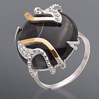 Женское кольцо из серебра и золота Юрьев 186к