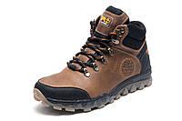 Кроссовки зимние мужские Timberland Pro Series, коричневые, натуральная кожа, р.  41 42 44