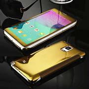 Чехол-книжка Mirror для Samsung Galaxy Note 4 Золотой