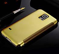 Чехол-книжка Mirror для Samsung Galaxy S5 Золотой